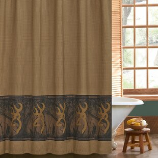 Buy luxury Buckmark Cotton Shower Curtain By Browning