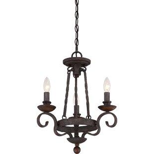 Fleur De Lis Living Allston 3-Light Candle Style Chandelier