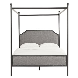 Shippy Metal Queen Upholstered Canopy Bed