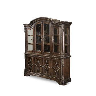 Hepburn Lighted China Cabinet by Astoria Grand