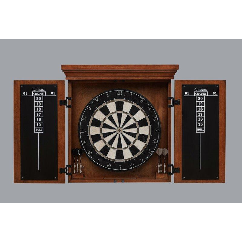 Guinness Dartboard Cabinet Set