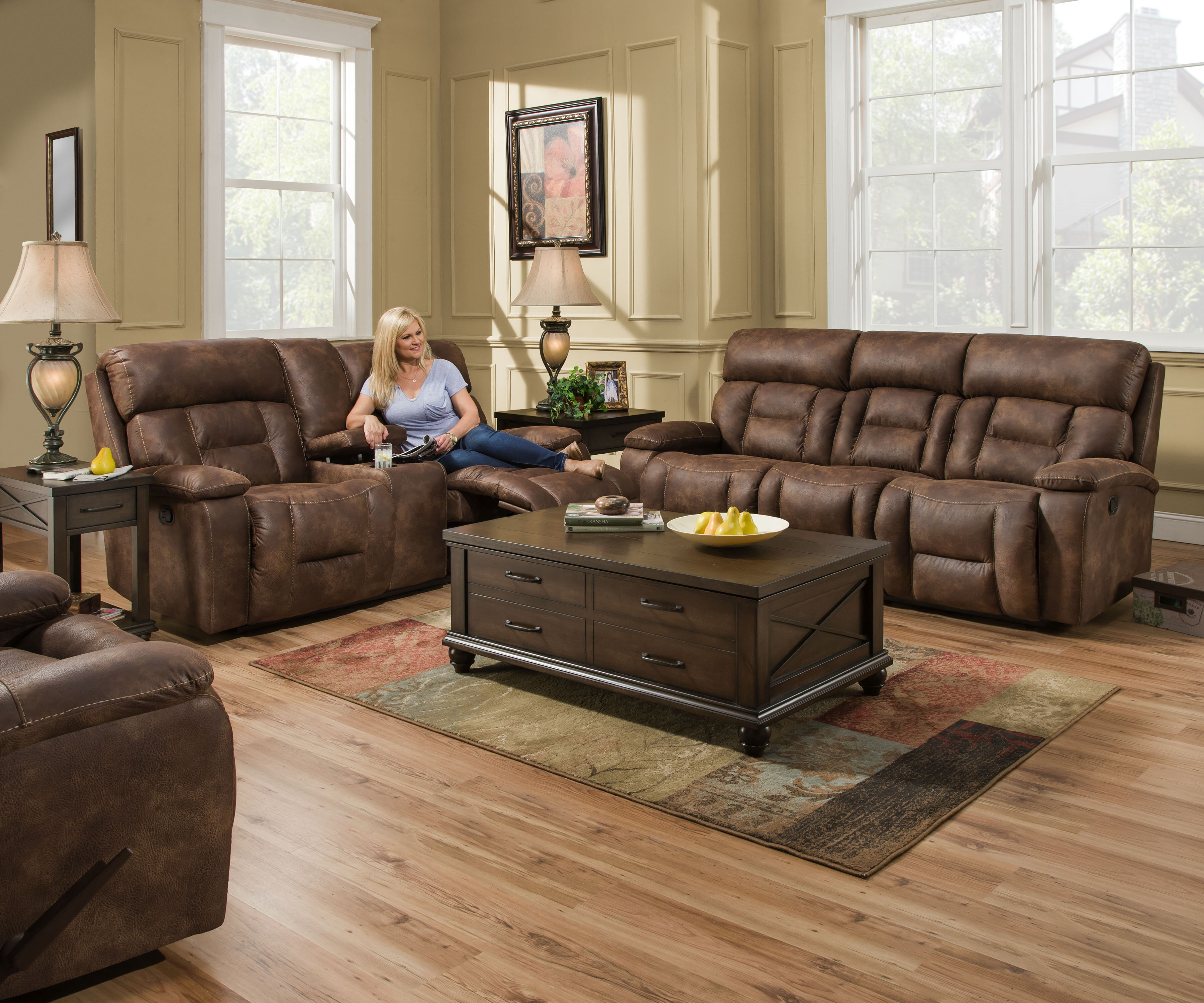 Pledger Reclining Configurable Living Room Set