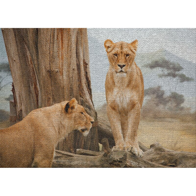 East Urban Home Lion 1 Beige Area Rug Wayfair