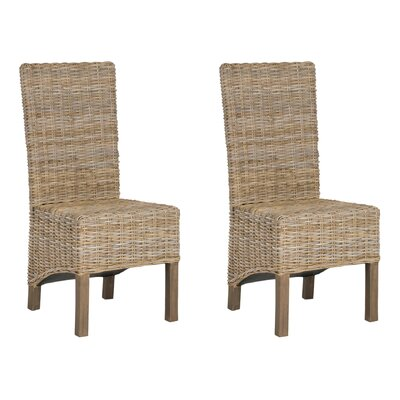 Chelston Solid Wood Dining Chair Color: Natural Unfinished by Beachcrest Home
