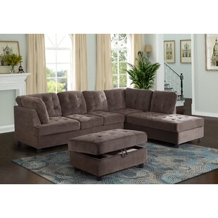 Ebern Designs Speaks Sectional with Ottoman