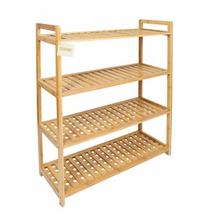 Bamboo 4 Tier Shoe Rack By Rebrilliant