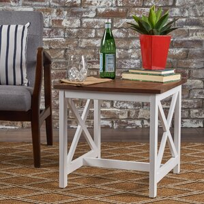 Akins Wood End Table by Highland Dunes