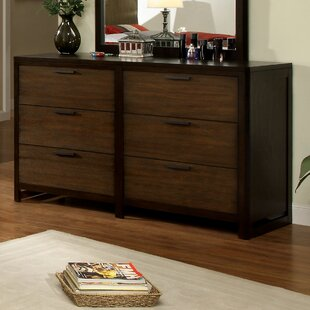 Hokku Designs Clanton 6 Drawer Double Dresser