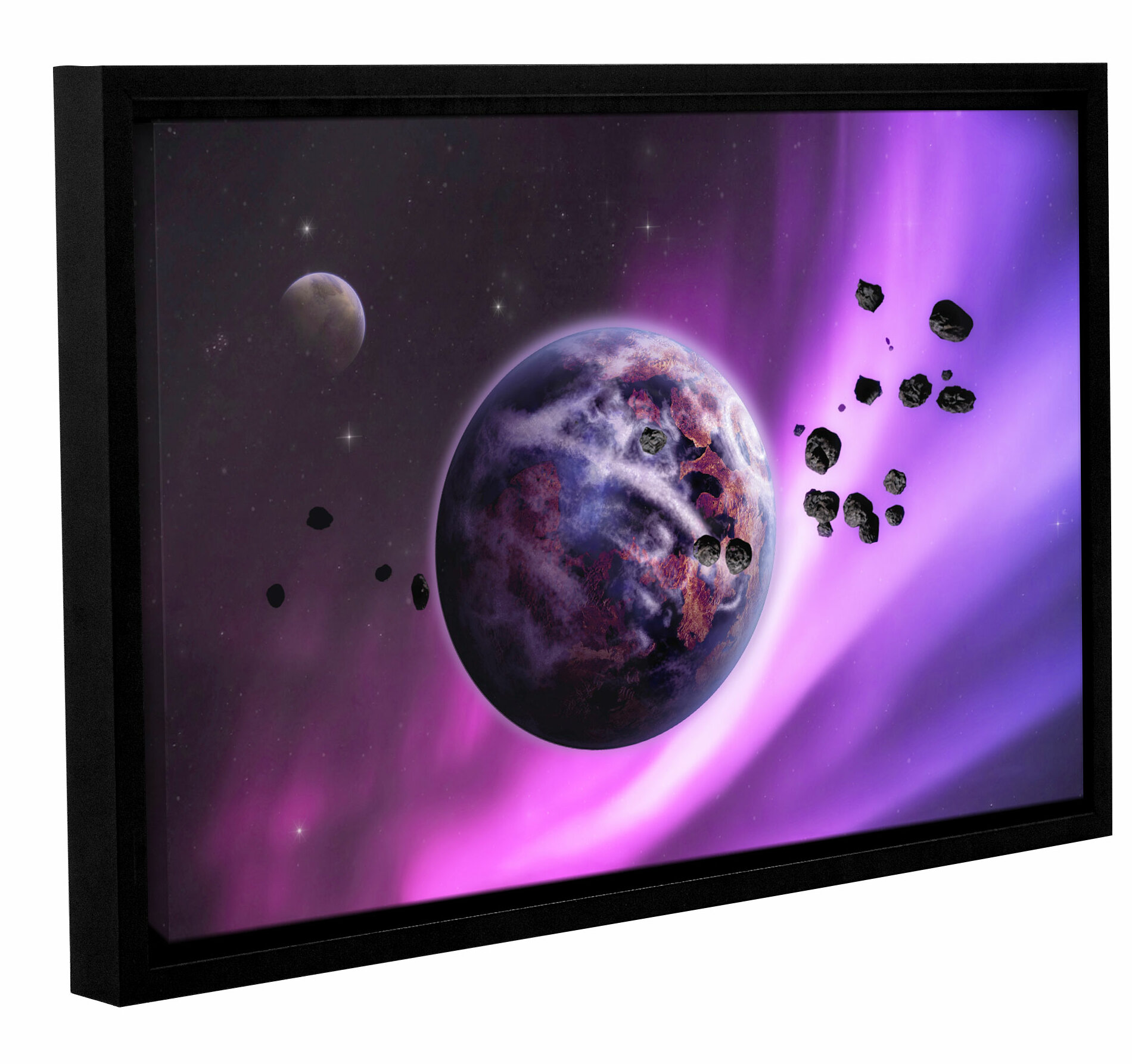 Ivy Bronx Deep Purple Space Framed Photographic Print On Wrapped Canvas Wayfair