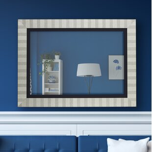 Hitchcock Butterfield Company Parma Silver and Satin Black Wall Mirror
