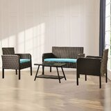 Asier Sero 4 Piece Rattan Sofa Seating Group with Cushions by Red Barrel Studio®