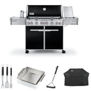 Summit E-670 6-Burner Propane Gas Grill with Starter Kit by Weber