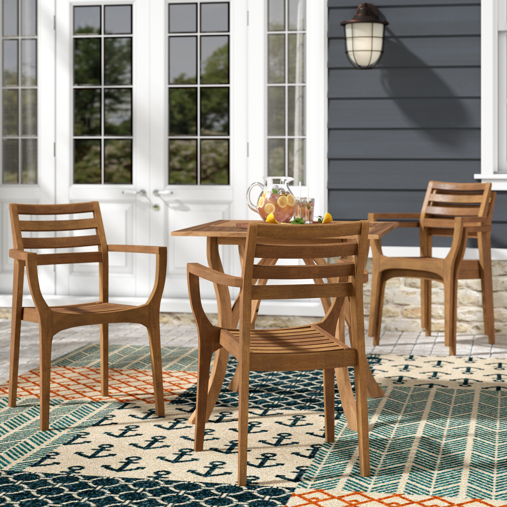 Beachcrest Home Roseland Stacking Patio Dining Chair