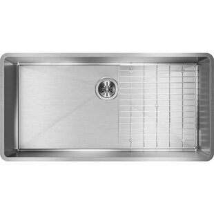 Crosstown 37 L x 19 W Undemrount Kitchen Sink with Grid and Drain Assembly by Elkay