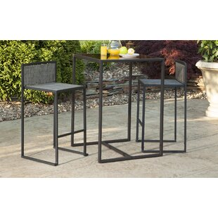 Highland Dunes Rothbury 3 Piece Bar Height Dining Set