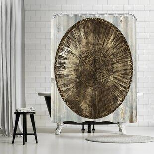 East Urban Home PI Creative Art Zulu Gold Iii Shower Curtain