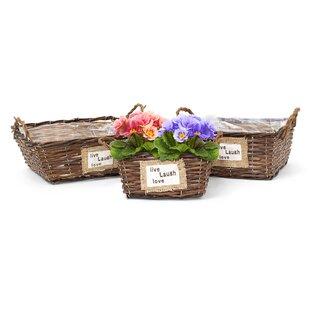Athey 3 Piece Rattan Planter Box Set By Brambly Cottage