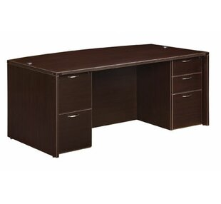 Best Price Fairplex Bow Front 5 Drawer Executive Desk by Flexsteel Contract