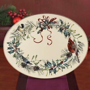 Winter Greetings Oval Platter