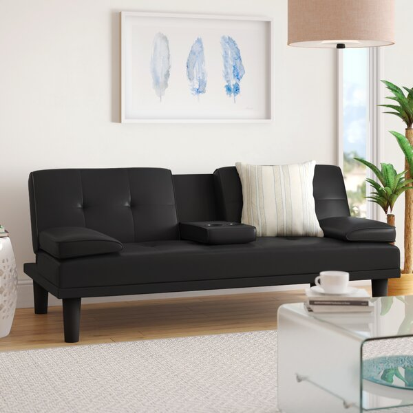 Outstanding Futon With Cup Holder Wayfair Short Links Chair Design For Home Short Linksinfo