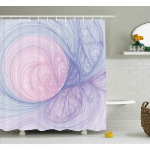 Purple Abstract Fractal Shapes Single Shower Curtain
