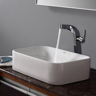 Zipcode Design Calanthe Calanthe Rectangular Vessel Bathroom Sink