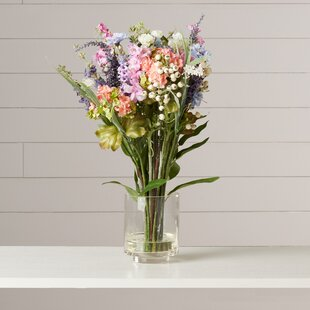 Rosemary Lavender and Hydrangea in Glass Vase