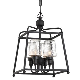 Price Check Barnaby 4-Light Outdoor Pendant By Darby Home Co