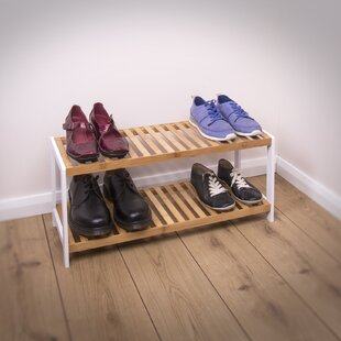 Bamboo 2 Tier 6 Pair Shoe Rack By Brambly Cottage