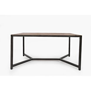 Lilac Contemporary Wood and Metal Dining Table by 17 Stories