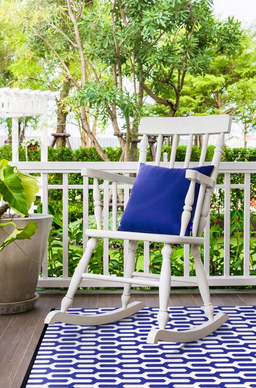 green decore handgewebter au enteppich in blau wei. Black Bedroom Furniture Sets. Home Design Ideas