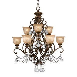 Astoria Grand Bahr 9-Light Shaded Chandelier
