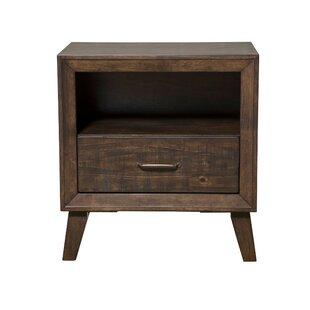 Abernathy Rubberwood 1 Drawer Nightstand by George Oliver