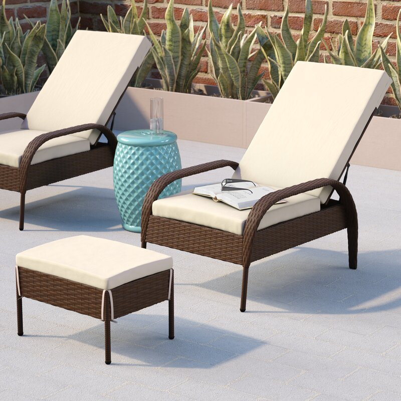 Ordinaire Banker Patio Chair With Cushion