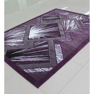Bargain Purple/Gray Area Rug ByRug Tycoon