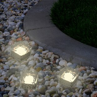 Pure Garden Ice Cube 1-Light LED Pathway Light (Set of 3)