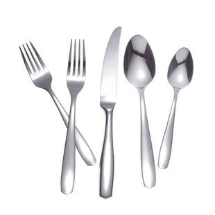 Amalfi 65 Piece 18/10 Stainless Steel Flatware Set, Service for 12