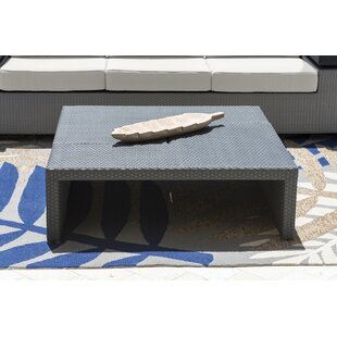 Onyx Puzzled Wicker Coffee Table