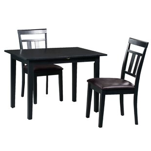 Fontinella 3 Piece Extendable Solid Wood Dining Set Alcott Hill