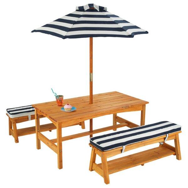 KidKraft Kids 4 Piece Writing Table And Chair Set U0026 Reviews   Wayfair