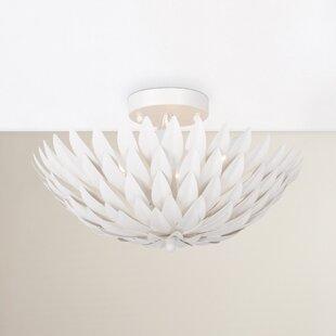 Willa Arlo Interiors Rochelle 4-Light Semi Flush Mount