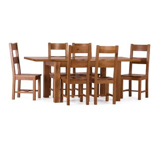 Aaliyah Extendable Dining Set with 6 Chairs by Brick & Barrow