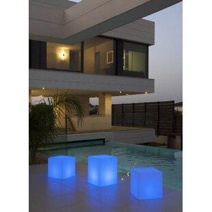 Rye White Battery Powered LED Floor Lamp By Freeport Park