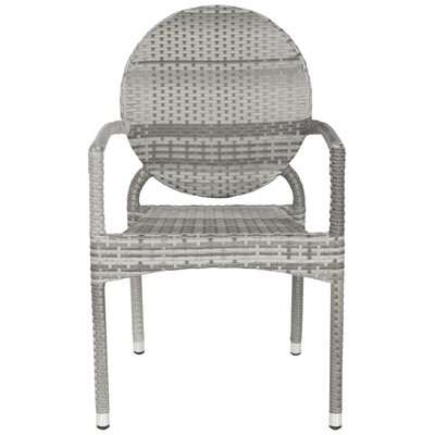 Jeanbaptiste Stacking Patio Dining Chair Lark Manor Color: Grey
