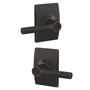 Broadway Lever with Century Trim Keyed Entry Lock by Schlage