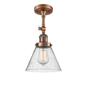 Agustine 1-Light Semi Flush Mount by 17 Stories