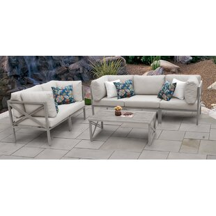 TK Classics Carlisle 6 Piece Outdoor Sectional Set with Cushions