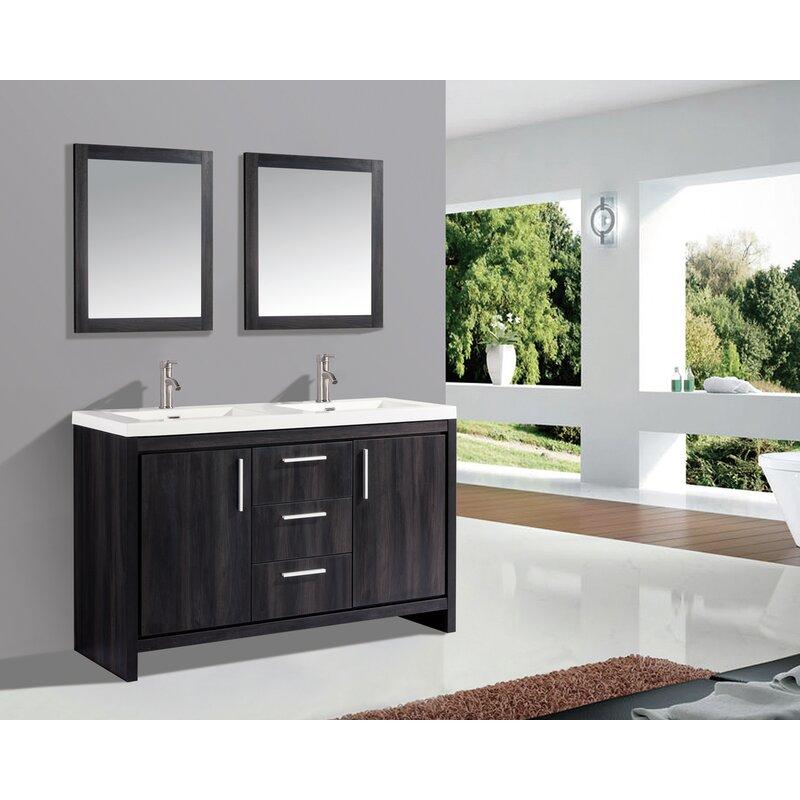 Orren Ellis Peiffer 59 Double Sink Bathroom Vanity Set Wayfair