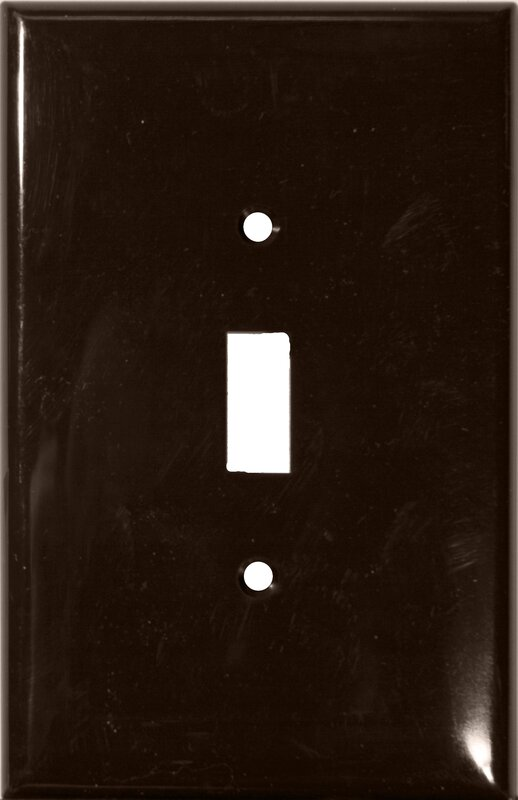 1 Gang Oversize Lexan Wall Plates for Toggle Switch in Brown