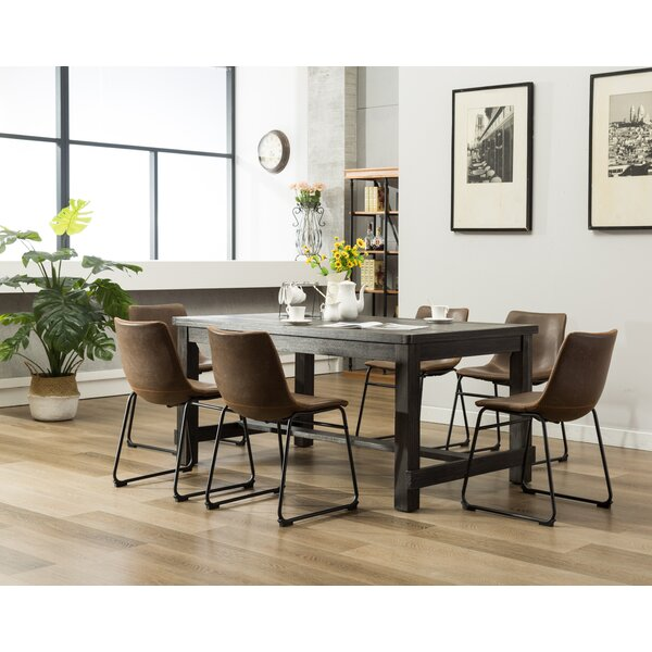 Anton 7 Piece Solid Wood Dining Set Reviews Allmodern